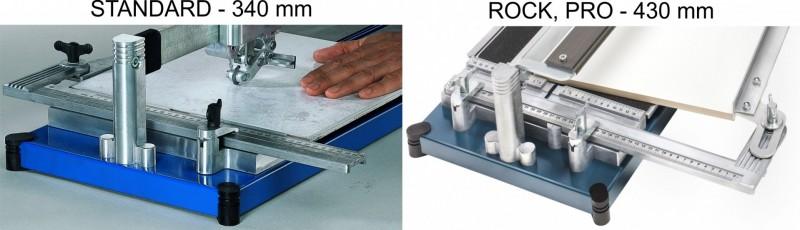 Srovnání řezaček - měřící pravítko